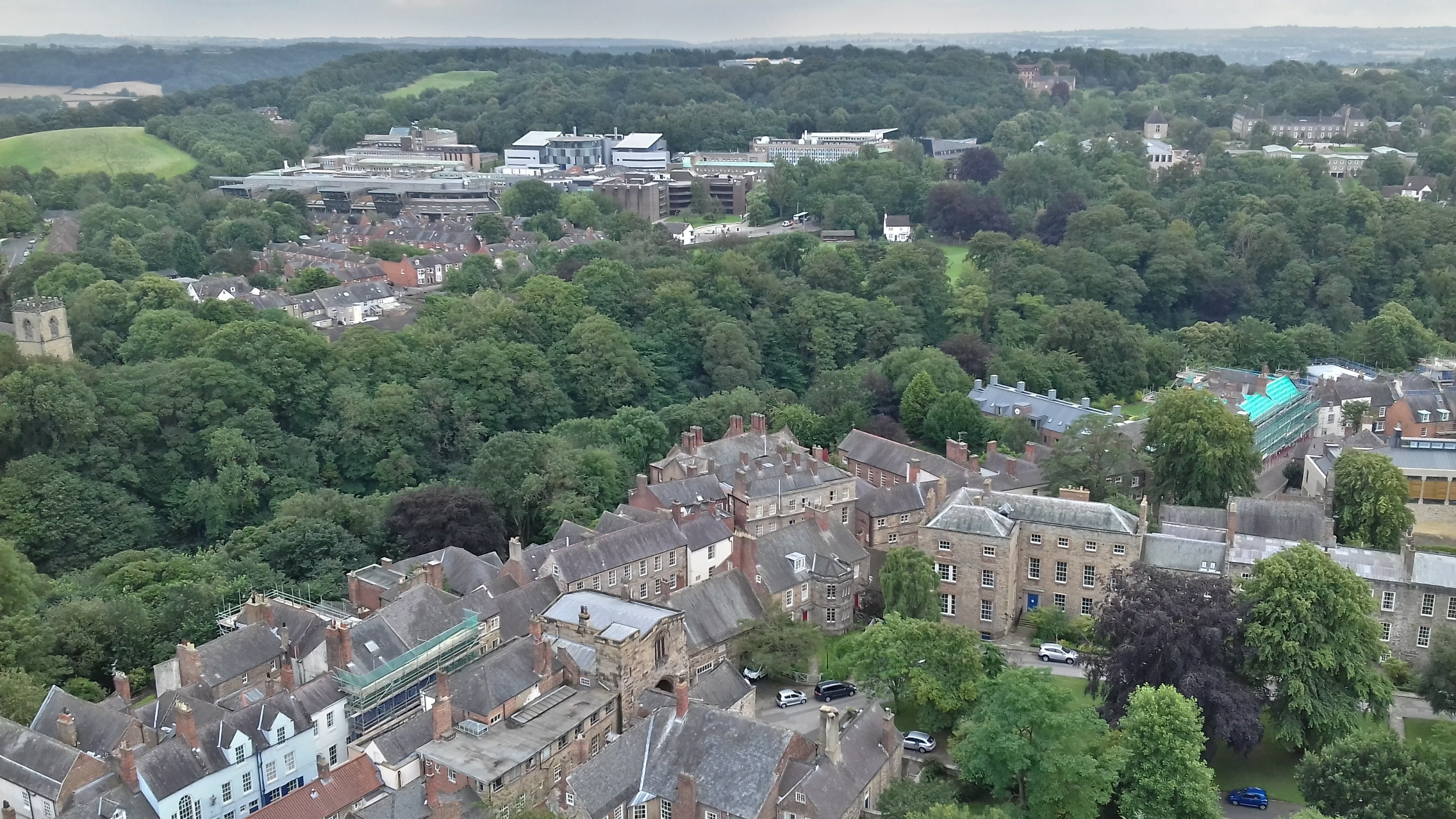 A view on the buildings of the Earth Sciences and Geography departments from the Cathedral tower