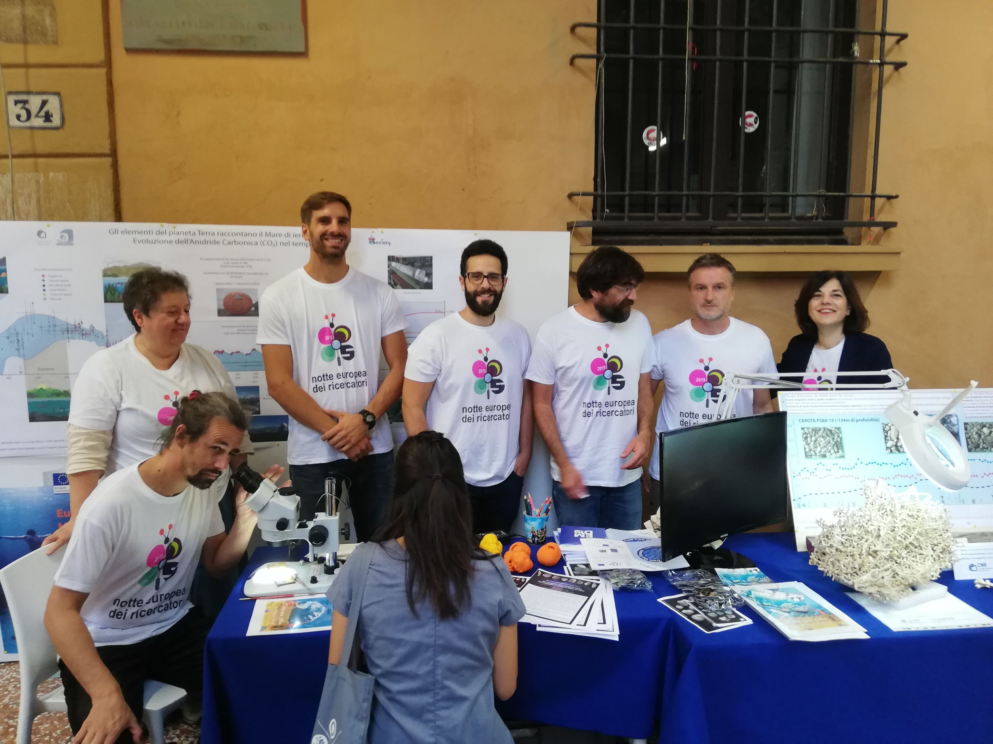 ISMAR-CNR research group participating in the European Researchers' Night 2019