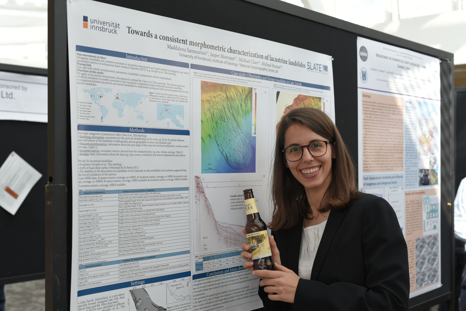 Poster presentation with Maddalena