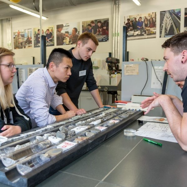 IODP lab turn: Participants describe cores acquired from hard rock environment