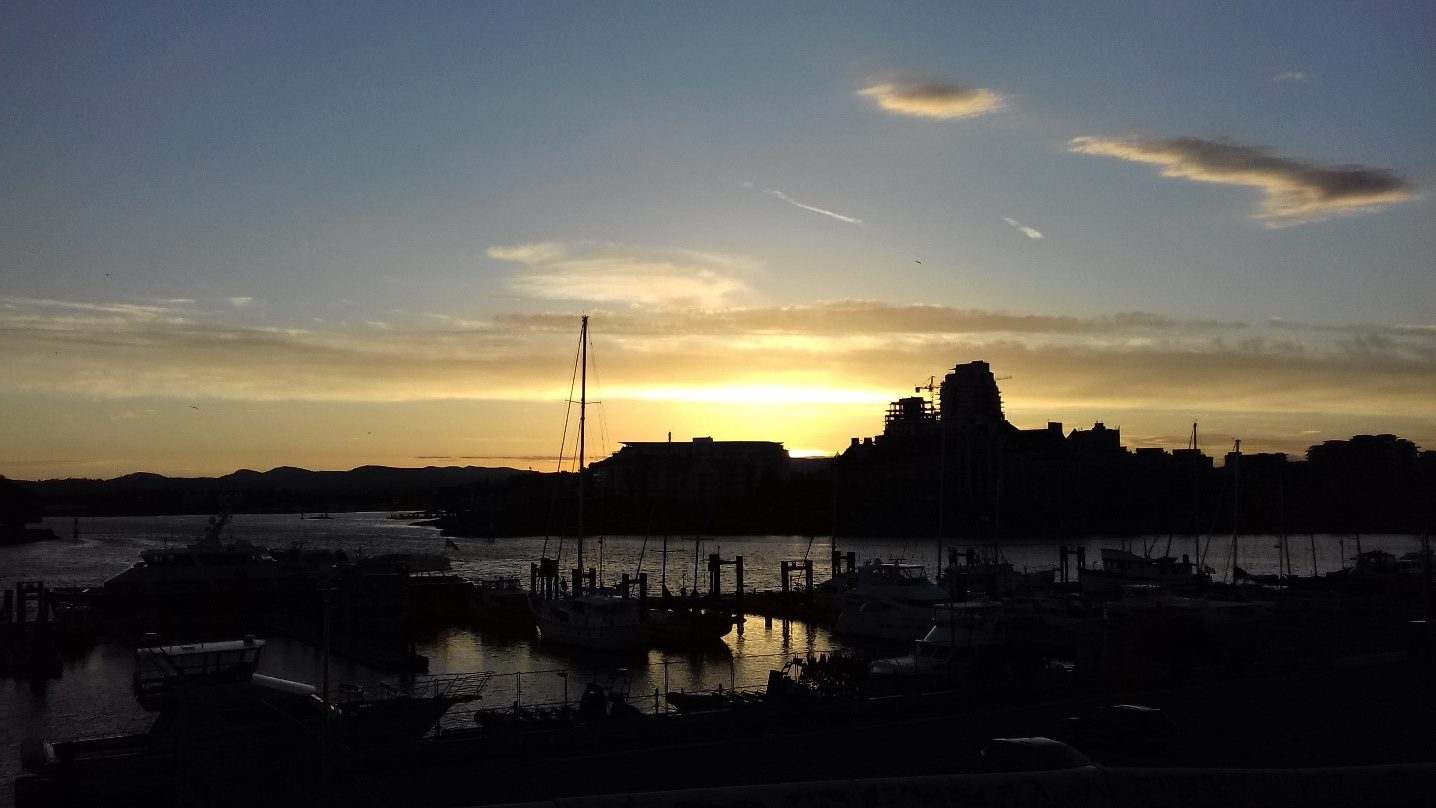 Sunset on Victoria's harbour